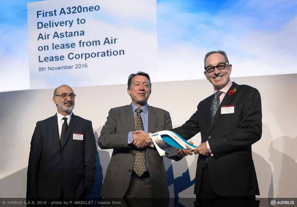 Air Astana takes delivery of its first A320neo_
