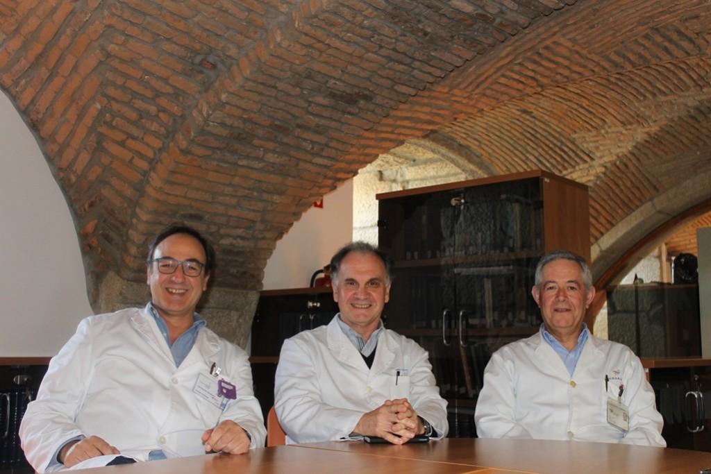 João Ramalheira, António Martins Silva e João Lopes